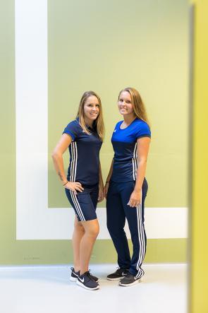 Emy en Simone Straatman vierdejaars studenten Sport & Bewegen