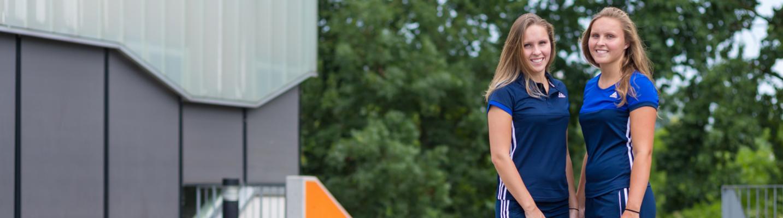 Simone en Emy Straatman vierdejaars studenten Sport & Bewegen
