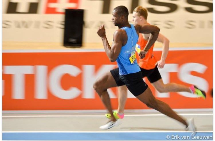 Student Chidel Cecilia Nederlands Kampioen 200m indoor sprint-foto Erik van Leeuwen