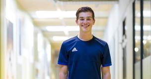Olaf van Baars, eerstejaars student Sport & Bewegen